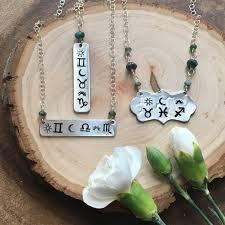 Custom Birth Chart Necklace Custom Astrology Necklace Emerald Jewelry Bar Necklace Birth Chart Necklace Zodiac Jewelry Natal Necklace Celestial Jewelry