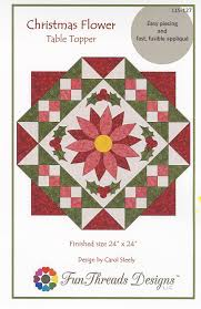 Fun Threads Designs Christmas Flower Table Topper By Steely Carol Round Table