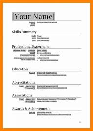 Resume Format Download In Ms Word 2007 Lcysne Com