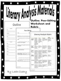 best literary analysis essay images teaching literary analysis handouts
