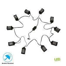 low voltage black led string light 8419