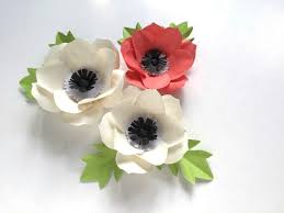 Diy Paper Flower Diy Paper Flowers Anemone Craft With Step By Step Instructions