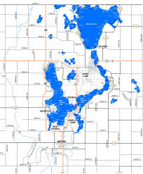 Lake Maps Sizes Depths Iowa Great Lakes Association