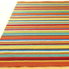 colorful stripe hooked indoor outdoor rug bright colored rugs