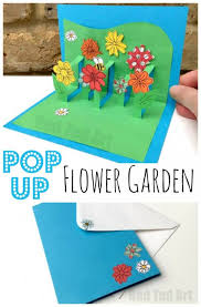 adorable diy pop up flower garden mother s day card via red ted art what a