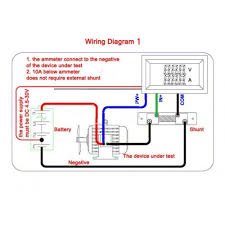 dc ammeter shunt wiring diagram dc image wiring dc digital voltmeter ammeter dual led color 2in1 w shunt on dc ammeter shunt wiring diagram