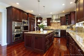 cherry wood cabinets. Unique Wood Cherry Kitchen Cabinets With Gray Wall And Quartz Countertops Ideas Tags  Cherry Kitchen Accessories Decor Cabinet Ideas  On Wood N
