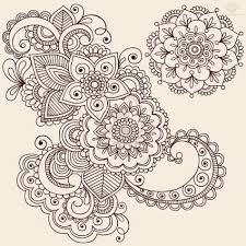 Flowers With Designs Flowers Paisley Pattern Tattoo Designs