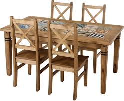 tile top dining table. Salvador Tile Top Dining Table In Distressed Waxed Pine Chair Option L