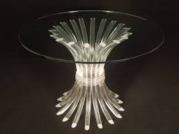 vintage round lucite dining table with glass top me modern round glass top kitchen table