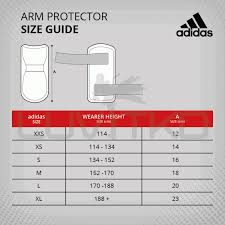 Adidas Chest Protector Sizing Chart Adidas Arm Guards Wt Approved
