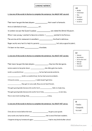 worksheets time connectives worksheets ks math  essay connectives worksheet