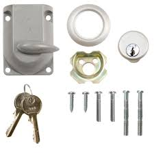 garage door dead bolt lock with cylinder