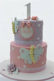 1st Birthday Cakes For Baby Girl Princess Two Tier Images