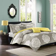 bkry luxury gray and yellow queen bedding