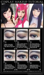 cosplay eye makeup tutorial this look suits most characters since it s fairly neutral with the brown eyeshadows it ll give you bigger anime like eyes