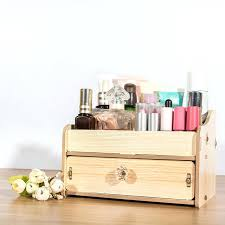 wood desk organizers with drawers wooden makeup storage box organizer for jewelry cosmetic case office supplies