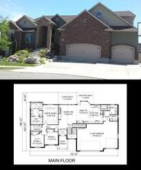 images about One Story House Plans on Pinterest   car     Sq Ft Rambler house plan  bedroom   vaulted ceilings  covered porch
