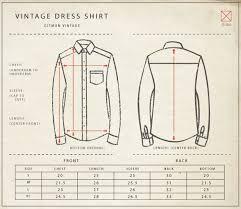 Gitman Vintage Size Chart
