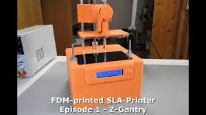 diy fdm printed sla printer part 1