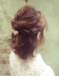 ミディアムヘアアレンジ Nbー026 ヘアカタログ髪型ヘア