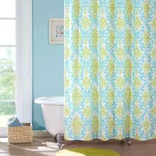 lime green shower curtain solid hooks
