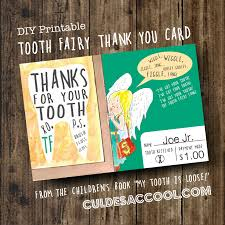 diy printable tooth fairy thank you card from the children s book my tooth is loose by becca wilkinson