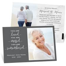 Funeral Remembrance Cards You Are Loved Memorial Card