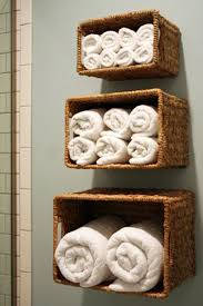 Bathroom Wall Storage Baskets Towel Ideas Another Way To Take On Decorating