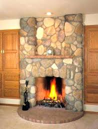 gas fireplace with rocks gas fireplace rocks kit how to install river rock on a surround gas fireplace with rocks