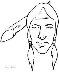 Small Picture Thanksgiving Indian Preschool Coloring Pages 021