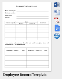training record template employee training record form magdalene project org
