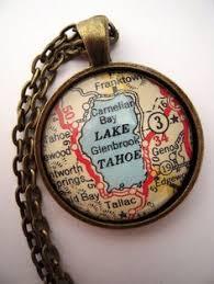 custom map jewelry lake tahoe california nevada vine map pendant necklace personalize map jewelry map cuff links groomsmen gifts