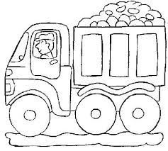 Dump Truck Coloring Pages For Preschoolers Home Improvement A Page