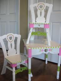 painted kids furniture. hand painted table and chairs by kelly sieckhaus kids furniture