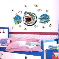 under the sea wall decals newest arrival shark blast out of the under sea wall decal