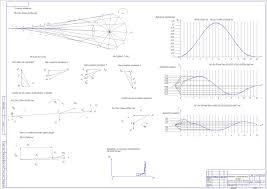 ТММ расчетные проекты Чертежи РУ Курсовая работа Кинематический и силовой расчет рычажного механизма