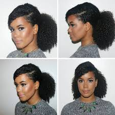 Natural Hairstyles Ponytails Low Ponytail For Long Ahfro Baang Hairstyles Highly Textured