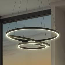 ultra modern lighting. Nice Overstock Lighting Chandeliers Vonn Tania Trio 32 Inches LED Adjustable Hanging Light Modern Circular Ultra