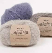 <b>Пряжа DROPS</b> «<b>Brushed</b> Alpaca Silk» - купить пряжу ДРОПС ...