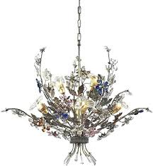 multi colored crystal chandelier gypsy chandelier multi colored multi colored chandelier