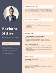 Canva Resume Simple Dark Purple Woman Photo Customer Service Resume Templates by Canva
