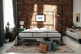 Full Canopy Bed Frame Full Size Wood Canopy Bed Frame ...