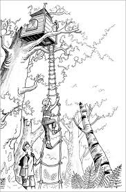 Download Tree Coloring Pages Kids House Colouring Pages Magic