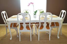 refinished dining room table and chair re upholstery tutorial 3