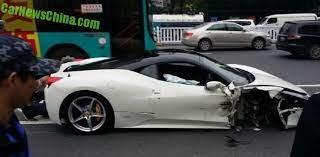 Ferrari 458 Italia Crashes In China Carnewschina Com