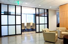 glass office wall. slide background glass office wall