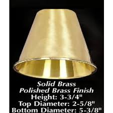 5 3 8 solid brass clip on chandelier and wall sconce lamp shade