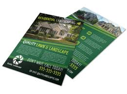 Sample Flyers For Landscaping Business Quality Residential Landscape Flyer Template