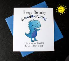 Maybe you would like to learn more about one of these? Happy Birthday Grandpasaurus Grandpa Birthday Carddinosaur Etsy